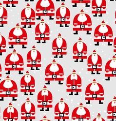 Santa Claus seamless pattern Christmas background vector image vector image