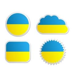 Ukraine flag labels vector image vector image