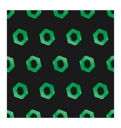3d seamless hexagon background dark vector image