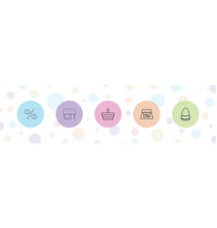 5 retail icons vector