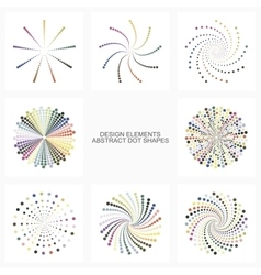 Abstract colorful dot shapes vector image