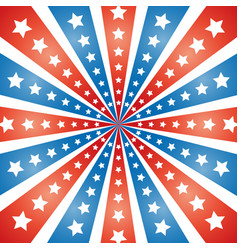 American abstract flag rays with stars background vector