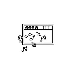 amplifier music notes icon vector image