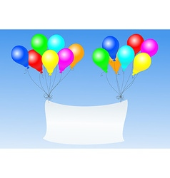 balloons with banner vector image