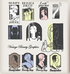 beauty logos vector image