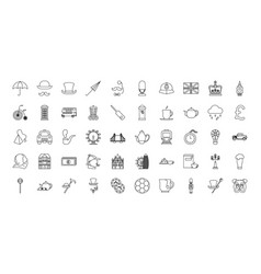 Bundle london country set icons vector