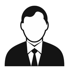 Businessman avatar simple icon vector image