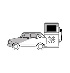 Car and bio fuel pump vector