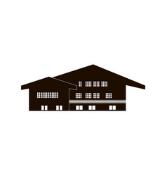 chalet wooden house home country building vector image