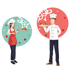 character set of chef vector image