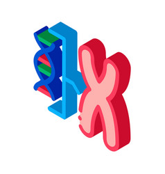 chromosome and molecule isometric icon vector image
