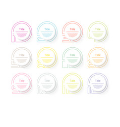 circle infographic number options design vector image