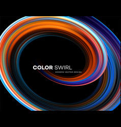 color bright swirl organic 3d shape colored flow vector image