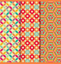 Colored geometric patterns background vector image