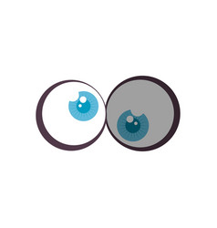 Comic crazy eyes icon vector