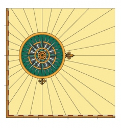 compass rose mariner vector image