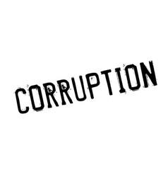corruption rubber stamp vector image