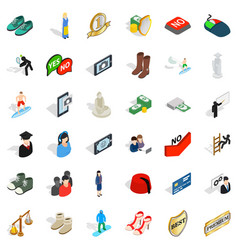 Current icons set isometric style vector