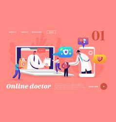 Distant online medicine smart medical vector