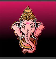 Ganesha mascot logo vector
