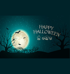 happy halloween party template vector image
