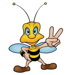 Honeybee Gesturing Victory vector