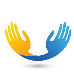 hopeful hands unity icon logo vector image