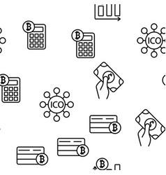 ico bitcoin seamless pattern vector image