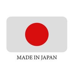Icon made in japan vector