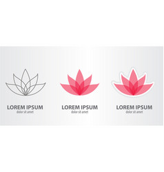 Icon of the lotus vector
