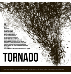 isolated abstract black color tornado dust in vector image