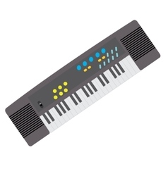 Isolated keyboard toy vector