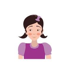 kid child girl avatar vector image