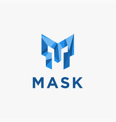 letter m for mask logo icon template vector image