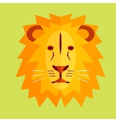 Lion in geometric style vector image