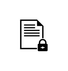 locked document flat icon vector image