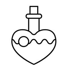 magic potion thin line icon love potion vector image