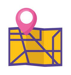 map location navigation vector image