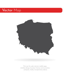 map poland isolated black on vector image