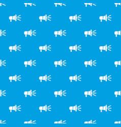 megaphone pattern seamless blue vector image