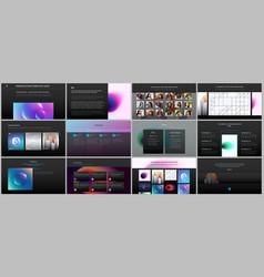 Minimal presentations portfolio templates vector
