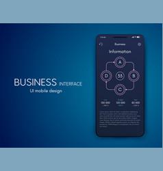 mobile application interface ui design stock vector image