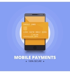 Mobile payments with smartphone and vector image