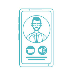 Online doctor physician smartphone video call vector