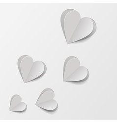 Paper hearts vector image