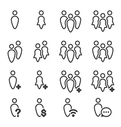 People icon line vector