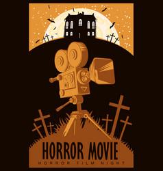 Poster for horror film night horror movie vector