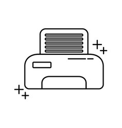printer equipment paper office line icon style vector image