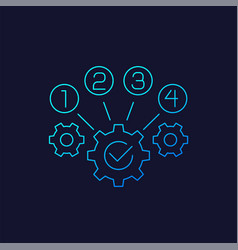 Process optimization icon linear vector