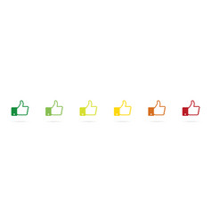 rating like icons flat hand like icons thumb up vector image